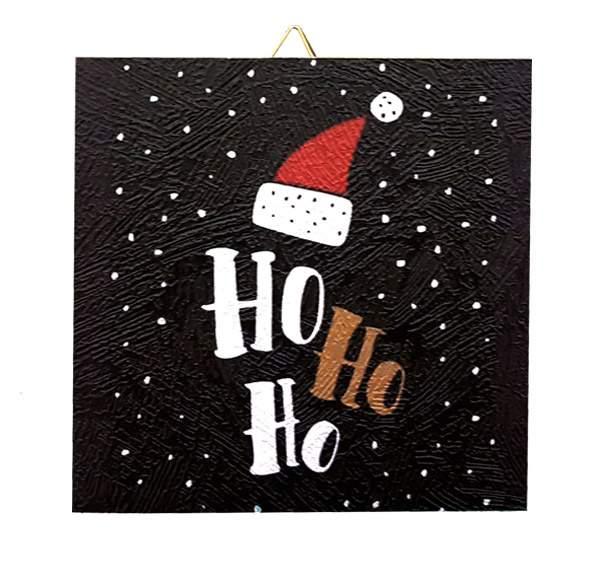 Χριστουγεννιάτικο Καδράκι Ho Ho Ho