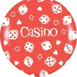 """36"""" Κόκκινο τεράστιο Μπαλόνι Καζίνο"""