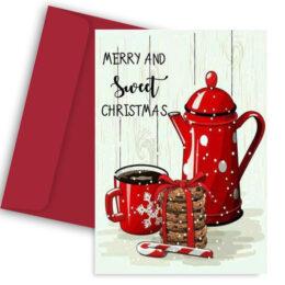 κάρτα merry & sweet Christmas