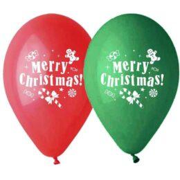 """12"""" Μπαλόνι Merry Christmas ζαχαρωτά"""