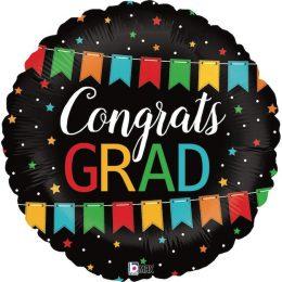 Μπαλόνι αποφοίτησης Congrats Grad μπάνερ 45 εκ