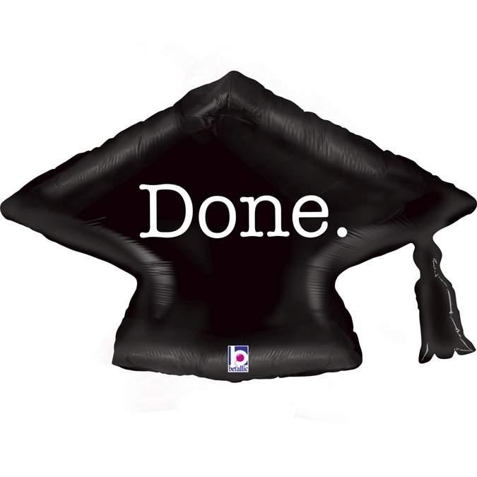 Μπαλόνι αποφοίτησης καπέλο 'Done' 79 εκ