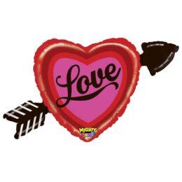 Μπαλόνι αγάπης Καρδιά με τόξο Love 91 εκ