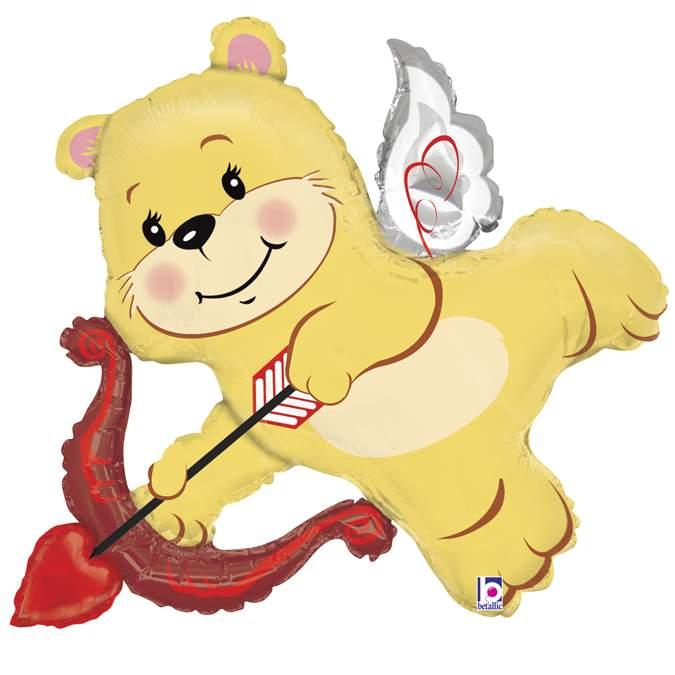 Μπαλόνι αγάπης ερωτευμένο Αρκουδάκι με τόξο 107 εκ