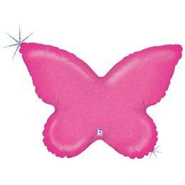 Μπαλόνι φούξια Πεταλούδα 76 εκ