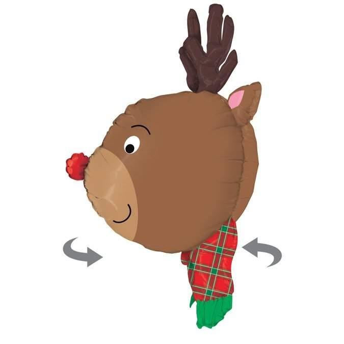 Μπαλόνι χριστουγεννιάτικο Τάρανδος τρισδιάστατος