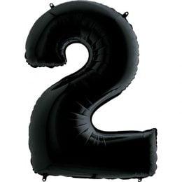Μπαλόνι 66 εκ Μαύρο Αριθμός 2