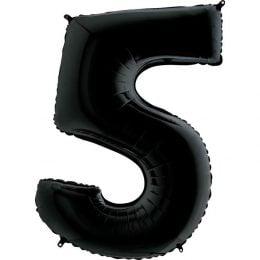 Μπαλόνι 66 εκ Μαύρο Αριθμός 5
