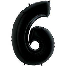 Μπαλόνι 66 εκ Μαύρο Αριθμός 6