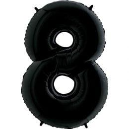 Μπαλόνι 66 εκ Μαύρο Αριθμός 8