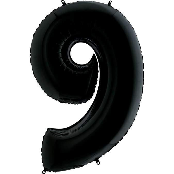 Μπαλόνι 66 εκ Μαύρο Αριθμός 9