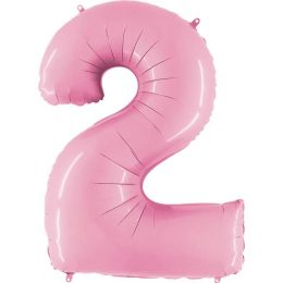 Μπαλόνι 66 εκ παστέλ ροζ Αριθμός 2