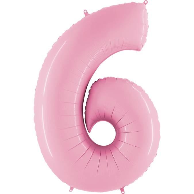 Μπαλόνι 66 εκ παστέλ ροζ Αριθμός 6