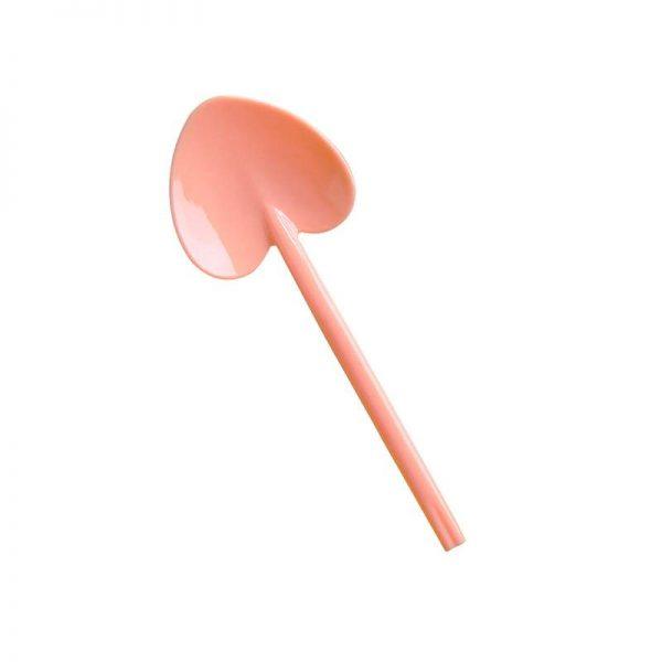 Mini Κουταλάκι καρδούλα σε χρώμα ροδακινί (8 τεμ)