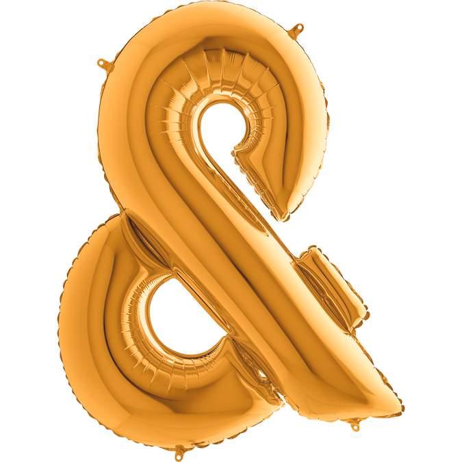 Τεράστιο Μπαλόνι 100 εκ Χρυσό Σύμβολο &
