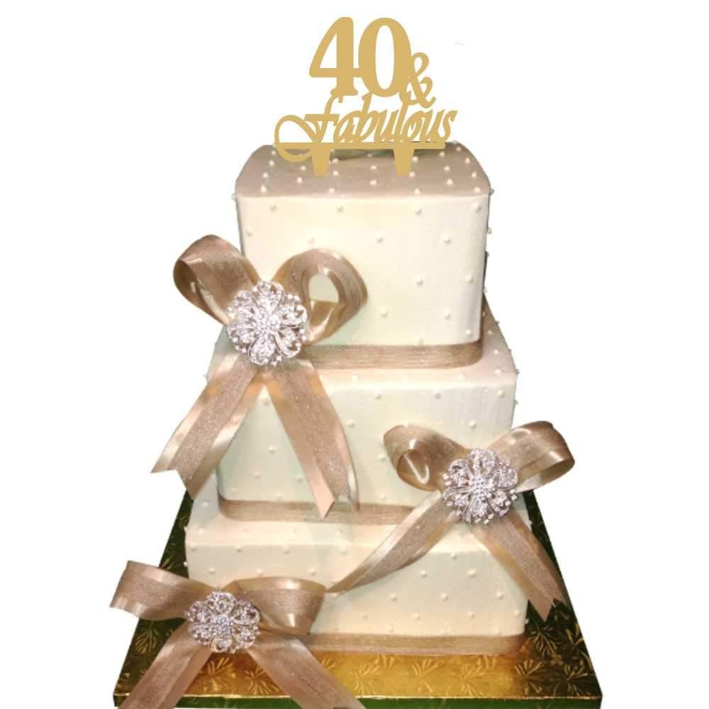 Διακοσμητικό topper 40 & fabulous χρυσό