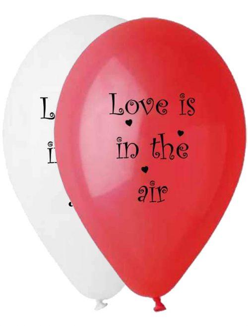 """12"""" Μπαλόνι τυπωμένο Love is in the air"""
