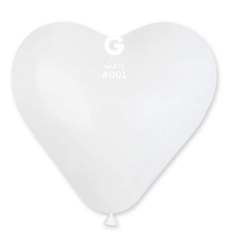 """17"""" Μπαλόνι καρδιά λευκή"""