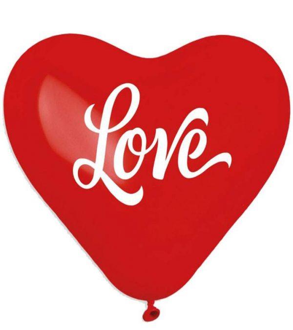 """16"""" Μπαλόνι τυπωμένο Καρδιά Love"""