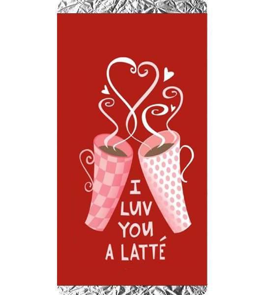 Σοκολάτα Αγάπης I luv you a latte