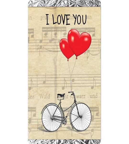 Σοκολάτα Αγάπης Ποδήλατο I love you