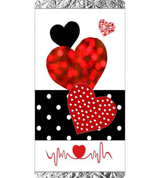 Σοκολάτα Αγάπης Καρδούλες & παλμογράφημα