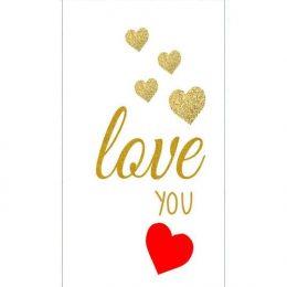 Σοκολάτα Αγάπης Χρυσές καρδιές Love you 100gr