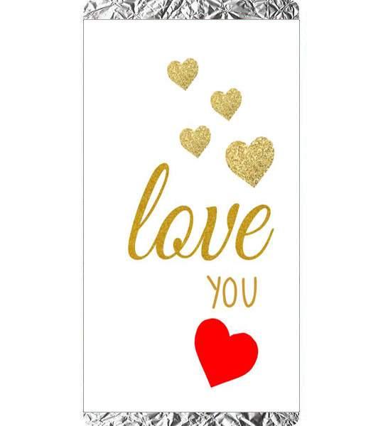 Σοκολάτα Αγάπης Χρυσές καρδιές Love you