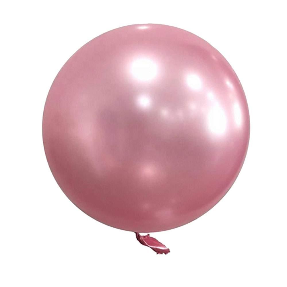 """Μπαλόνι Chrome ροζ σφαίρα 18"""""""
