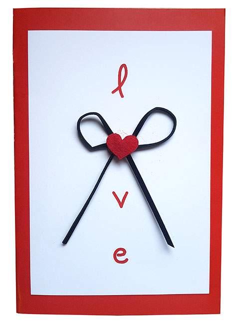 Κάρτα Αγάπης Love καρδούλα & φιογκάκι