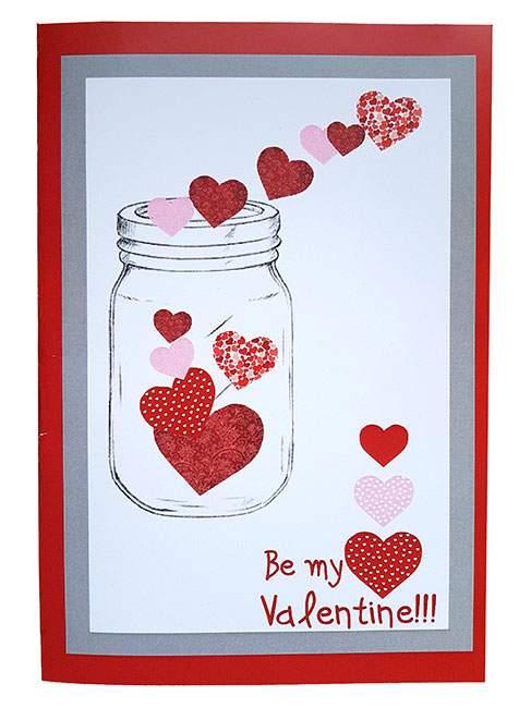 Κάρτα Βαλεντίνου Βάζο 'Be my Valentine'