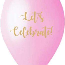 12″ Μπαλόνι τυπωμένο Let's celebrate