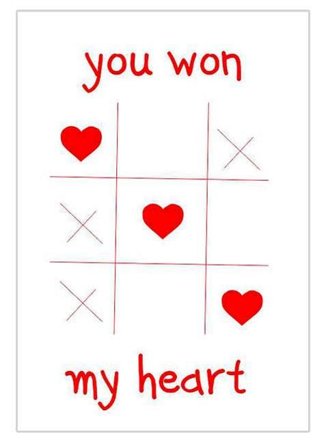 Κάρτα Αγάπης Τρίλιζα You won my heart