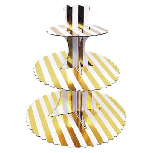 Βάση για Cupcake με χρυσές Ρίγες