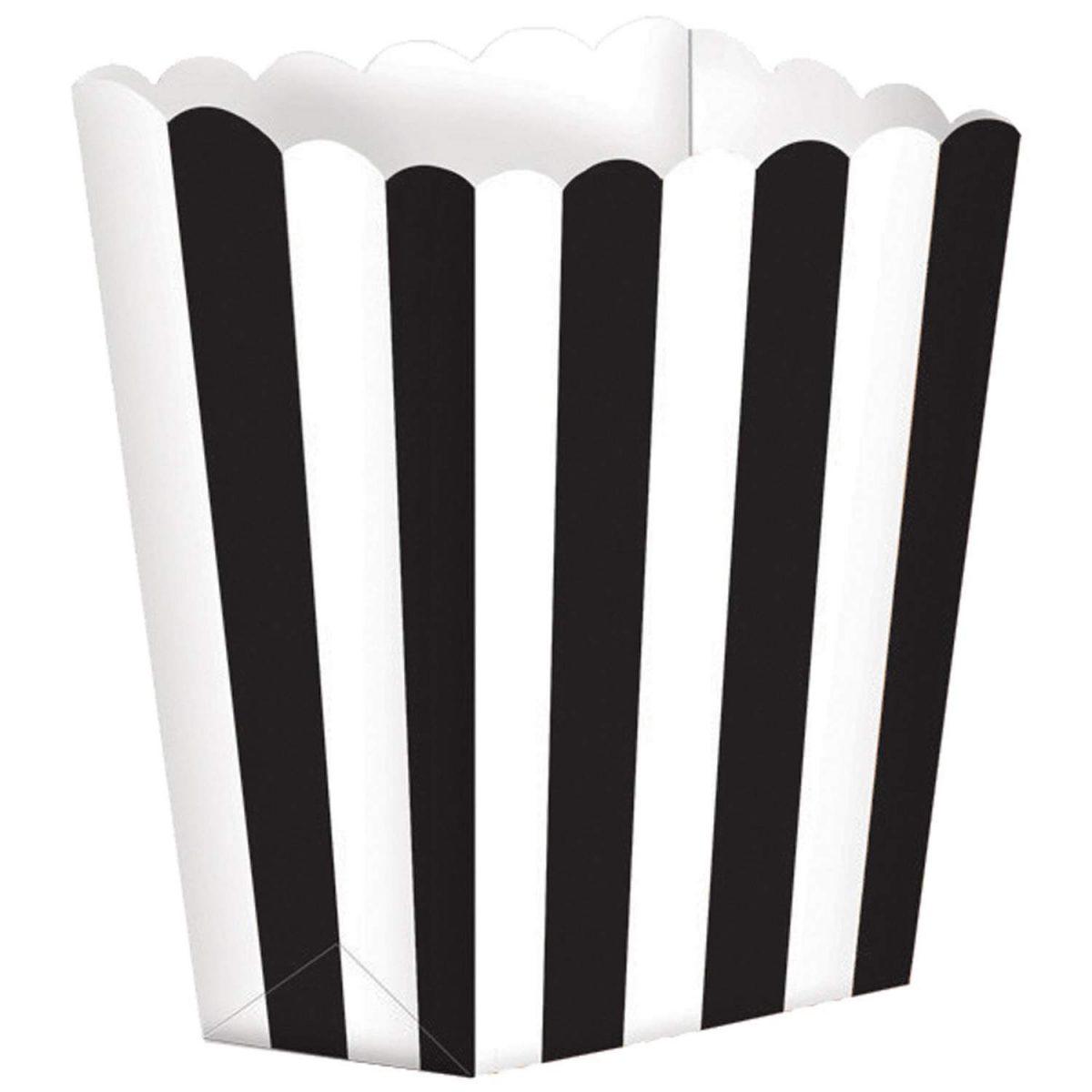 Κουτί Ποπ Κορν Μαύρο με Ρίγες