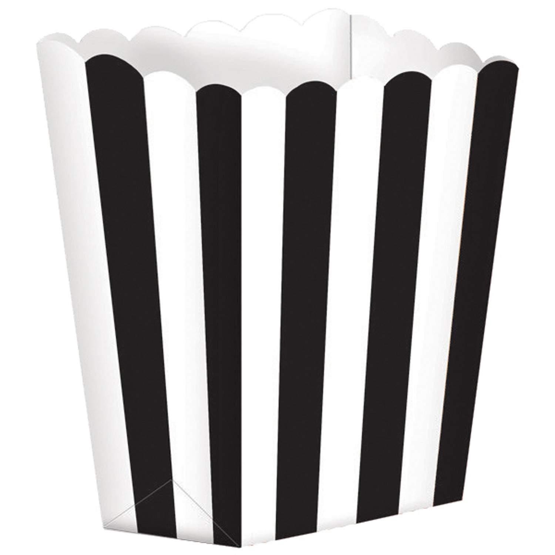 Χάρτινα Μαύρα τσαντάκια με ρίγες (5 τεμ)