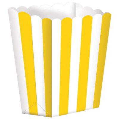 Χάρτινα Κίτρινα τσαντάκια με ρίγες (5 τεμ)