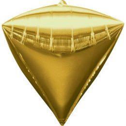 """Μπαλόνι χρυσό διαμάντι 18"""""""