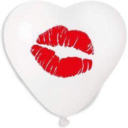 """16"""" Μπαλόνι τυπωμένη Καρδιά φιλί"""