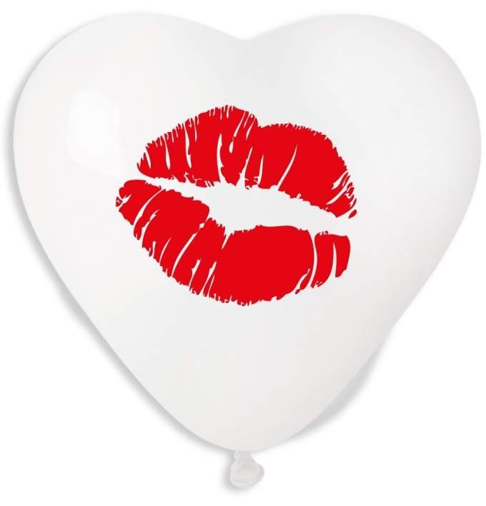 16″ Μπαλόνι τυπωμένη Καρδιά φιλί