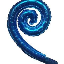 Μπαλόνι Μπλε Swirling 16″