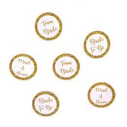 Κονκάρδες χρυσές για Bachelorette party σε διάφορα σχέδια