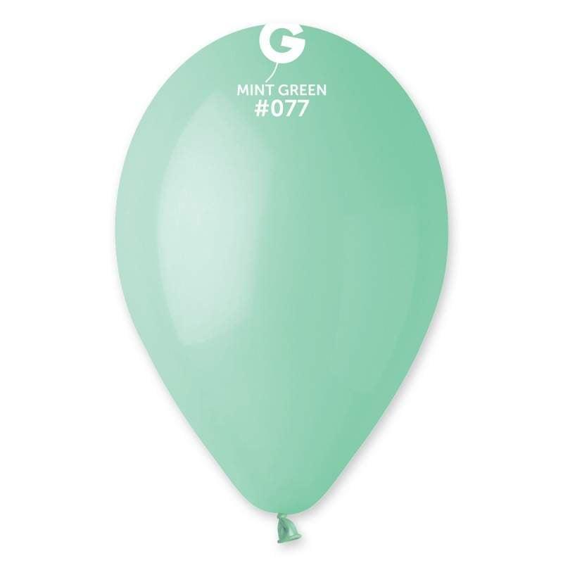 """9"""" Πράσινο μέντας λάτεξ μπαλόνι"""