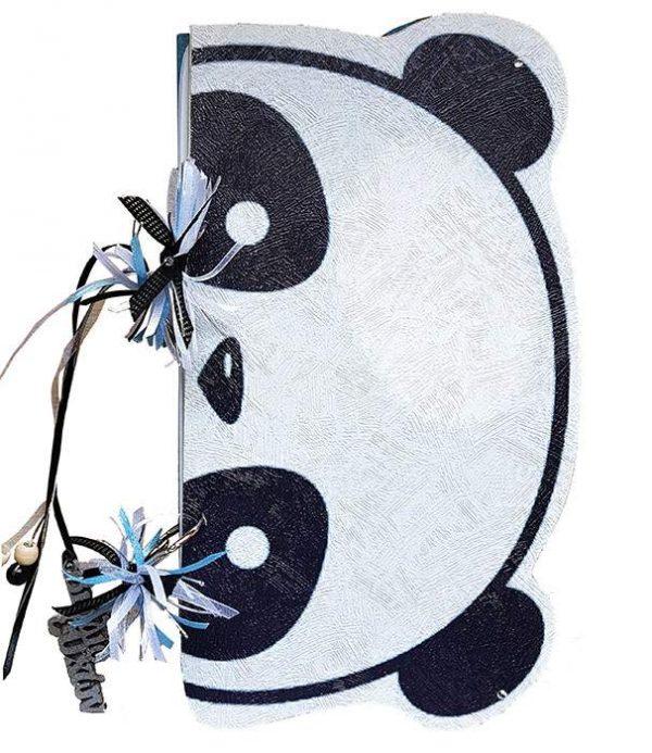 Χειροποίητο Ξύλινο Βιβλίο Ευχών Panda