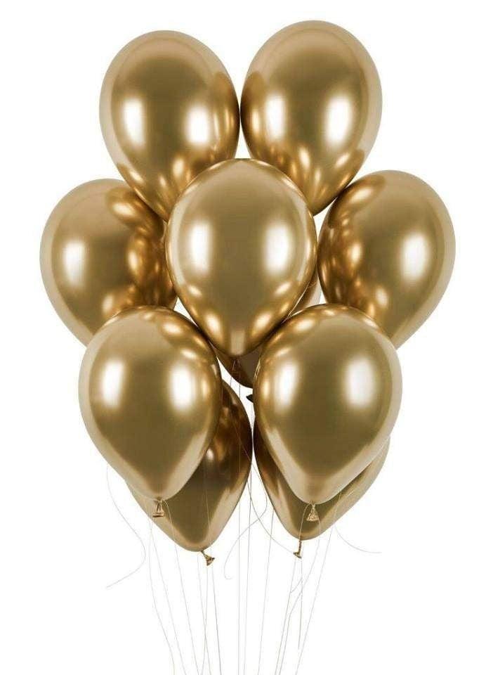 12″ Shiny Χρυσό λάτεξ μπαλόνι