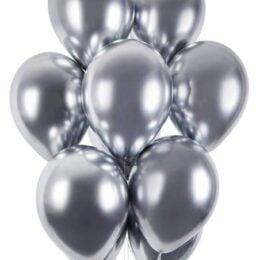 12'' Shiny Ασημί λάτεξ μπαλόνι