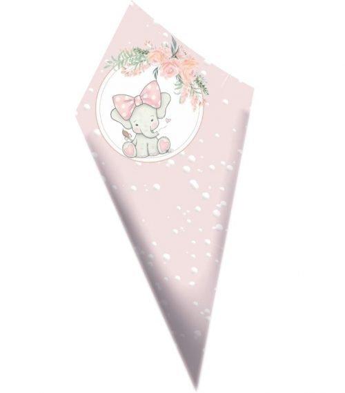 Χωνάκια ζαχαρωτών Ελεφαντάκι με φιόγκο