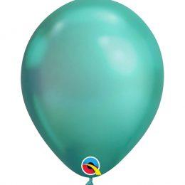 "11"" chrome πράσινο λάτεξ μπαλόνι"