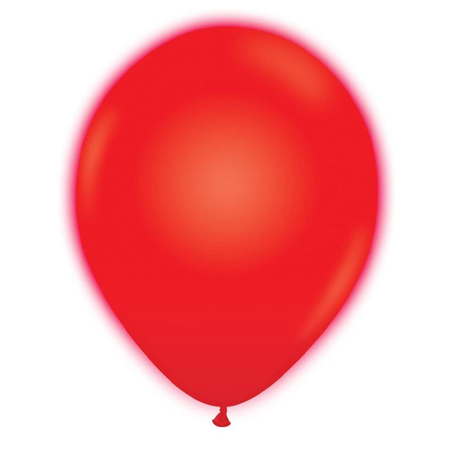 """12"""" Κόκκινο Μπαλόνι με φωτάκι LED (2 τεμ)"""