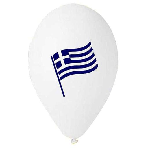 """12"""" Μπαλόνι τυπωμένο Ελληνική σημαία"""